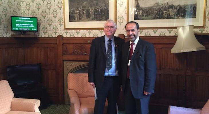 خلال سلسلة من اللقاءات مع عدد من النواب البريطانيين، منتدى التواصل الأوروبي الفلسطيني يدعو إلى الضغط على الحكومة البريطانية لاتخاذ موقف أخلاقي من الانتهاكات الإسرائيلية المستمرة ضد الفلسطينيين
