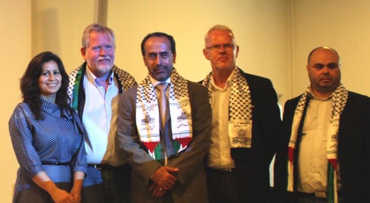 في لقاء مع رئيس منتدى التواصل الاوروبي الفلسطيني، نواب دنماركيون يؤكدون دعمهم لاسطول الحرية ويطالبون بانهاء حصار غزة