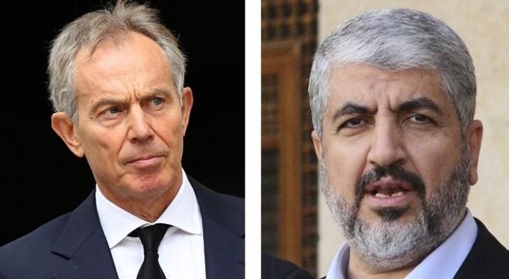 مشعل تلقى دعوة من بلير لزيارة لندن لاستكمال مباحثات التهدئة