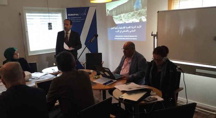 منتدى التواصل الأوروبي الفلسطيني ينظم دورة تدريبية في مدينة يوتوبوري السويدية