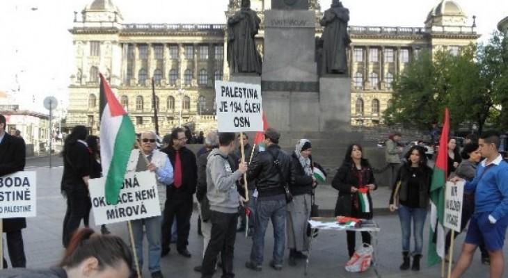 وقفة تضامنية مع فلسطين في جمهورية التشيك