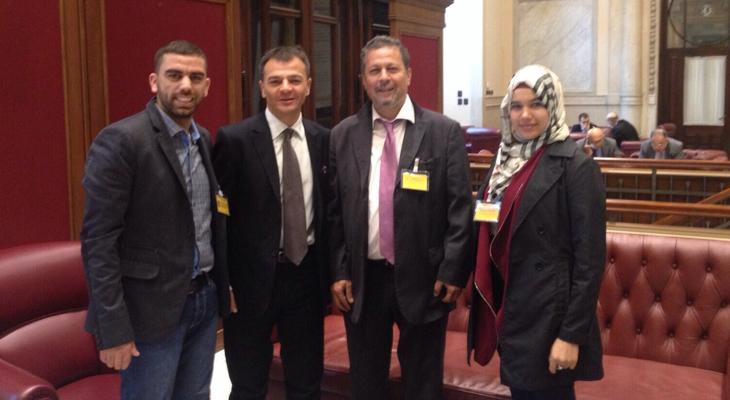 التجمع الفلسطيني في ايطاليا ومنتدى التواصل ينظمون لقاءات مع نواب من البرلمان في روما