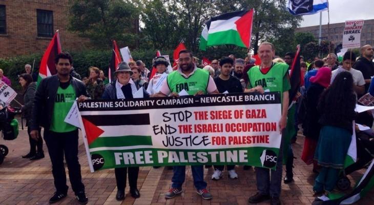 لقاء في مدينة نيوكاسل البريطانية حول فلسطين
