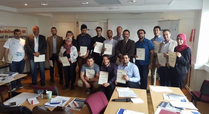 منتدى التواصل الأوروبي الفلسطيني ينظم دورة تأهيلية للشباب الفلسطيني والمتضامنين في النرويج