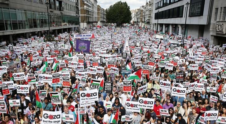 لندن: وقفة تضامنية للمطالبة بإنهاء الحصار على قطاع غزة