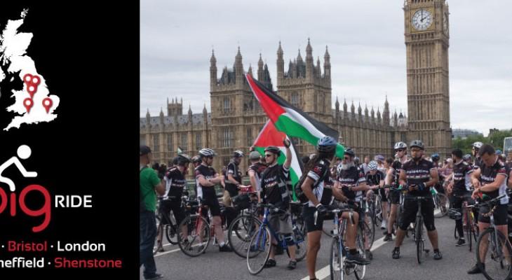 دعوة للمشاركة في ماراثون الدراجات الكبير لاجل فلسطين في المملكة المتحدة