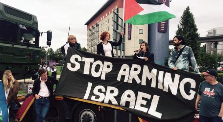 وقفة احتجاجية في لندن بعنوان اوقفوا تسليح اسرائيل