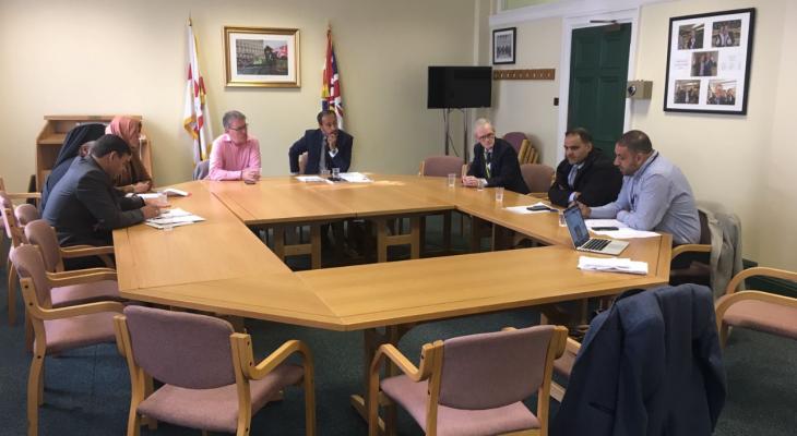 في الْيَوْمَ الثاني لجولة الوفد المقدسي الشعبي الى المملكة المتحدة وإيرلندا عقد عدداً من الاجتماعات في برلمان ايرلندا الشمالية مع برلمانيين من الأحزاب المختلفة