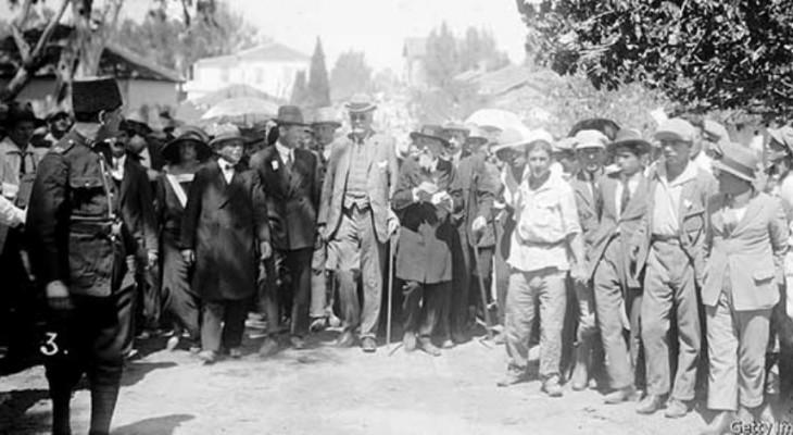 رفض الانتداب البريطاني علي فلسطين, حكاية مؤتمر نابلس 24 أغسطس 1922... بقلم: أشرف أمين