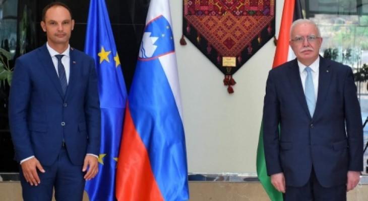 المالكي يبحث مع نظيره السلوفيني سبل تعزيز العلاقات الثنائية