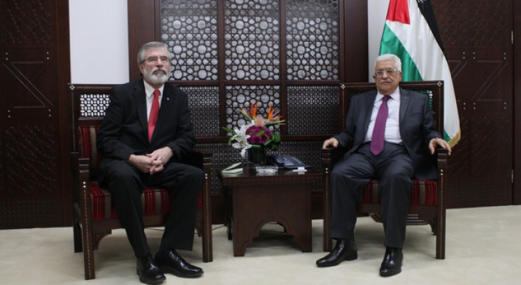 Gerry Adams calls for recognition of a Palestinian State