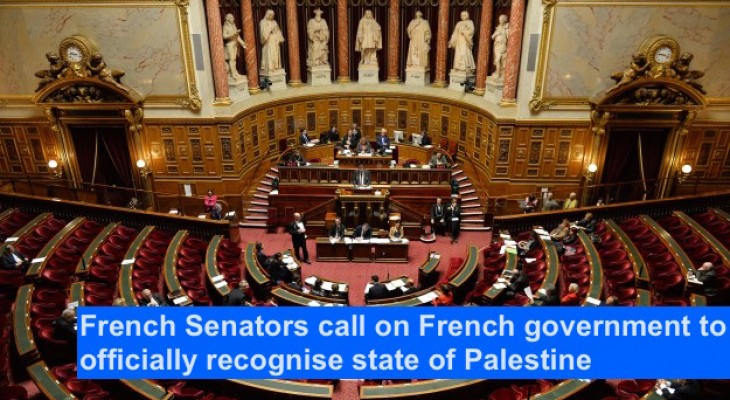 French Senators call on French government to officially recognise state of Palestine