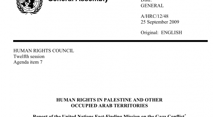 Report of the United Nations Fact-Finding Mission on the Gaza Conflict