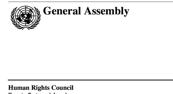 Resolution adopted by the Human Rights Council on Gaza