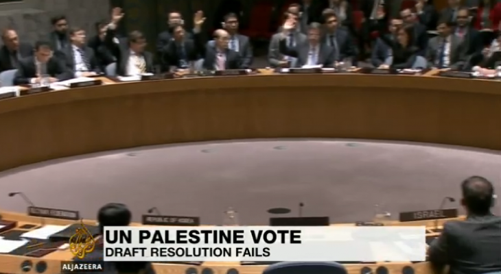 UN Security Council rejects resolution on Palestinian state