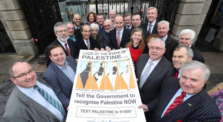 Billboard campaign launched in Ireland to recognise Palestine