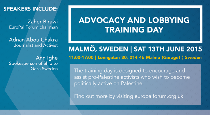 Advocacy and Lobbying training day (Malmö - Sweden) Saturday 13th June