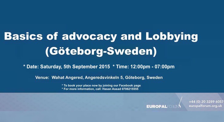 Basics of Advocacy and Lobbying (Göteborg-Sweden)