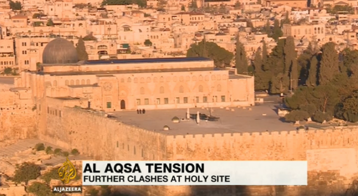 Israeli troops clash with Palestinians at al-Aqsa