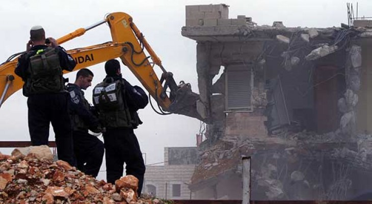 Israel demolished 46 Palestinian houses last month