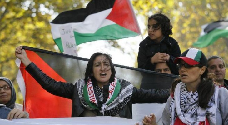 French protesters rally for a Palestinian state in Paris