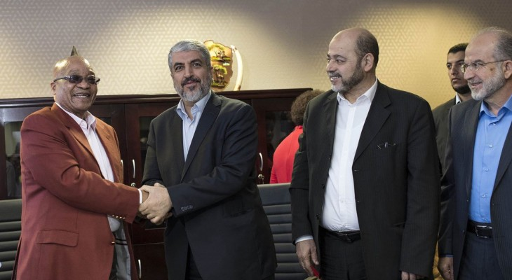 South Africa hosts Hamas leader Mashaal, prompting angry protest by Israel