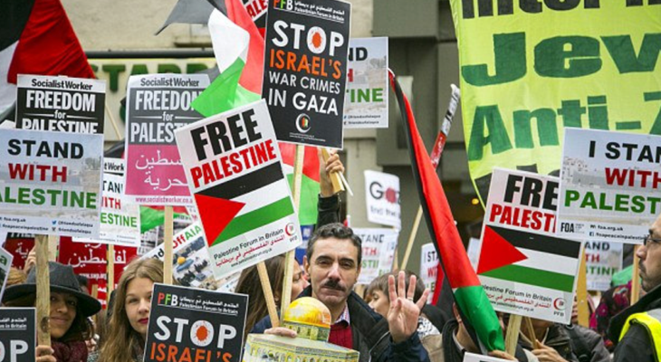 Pro-Palestine Protests across Europe over Israel Human Rights Violations in Occupied Territories