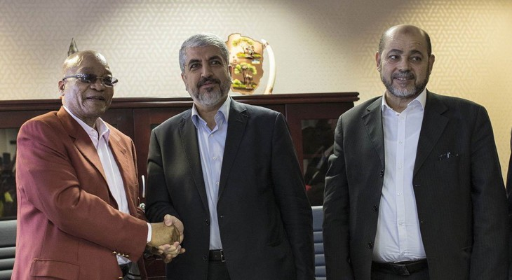 Hamas political chief meets pro-Palestinian activists in South Africa