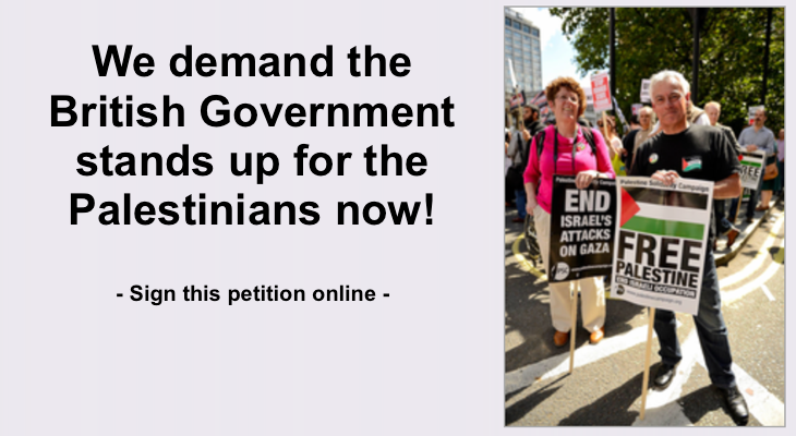 A petition to take the current Gaza debate into British parliament