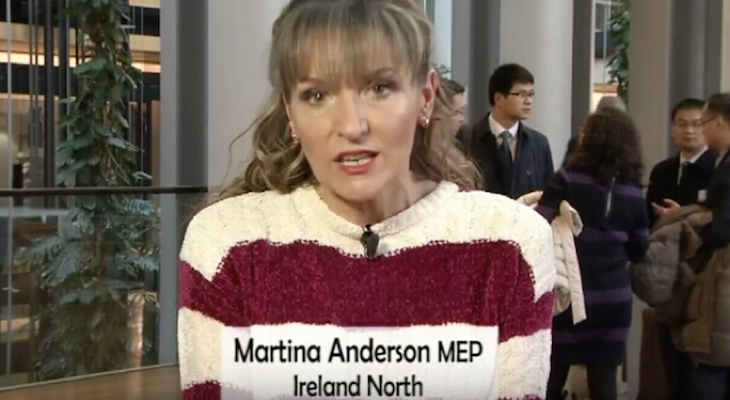 Sinn Féin MEP Martina Anderson marks International Day of Solidarity with the Palestinian People
