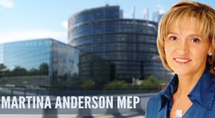 EU Official Martina Anderson Calls for International Protection of Palestinians