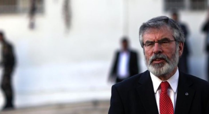 Gerry Adams: Failure of Government to recognise the State of Palestine utterly unacceptable