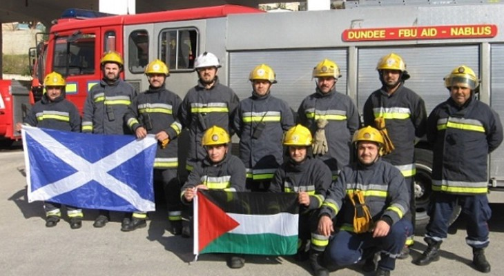 Palestine, Israel, Scotland … firefighting that knows no borders