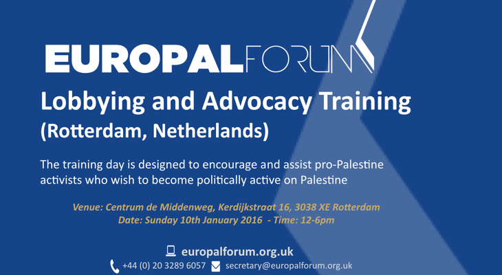 Lobbying and Advocacy Training (Rotterdam, Netherlands)