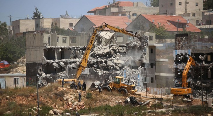 Israel destroyed 478 Palestinian facilities in 2015