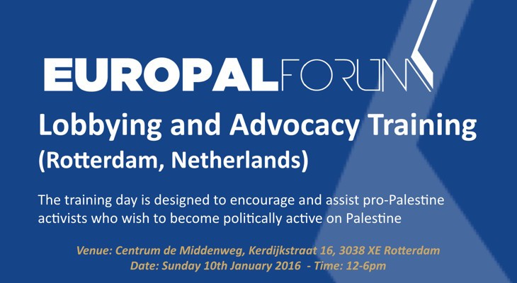 Lobbying and Advocacy Training this Sunday in Rotterdam city, Netherlands