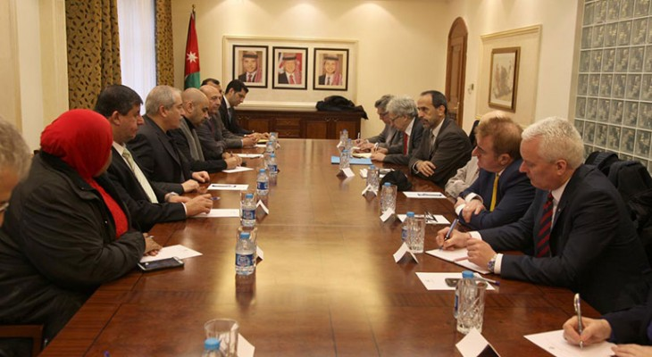 Jordanian Foreign Minister meets with British Parliamentary Delegation