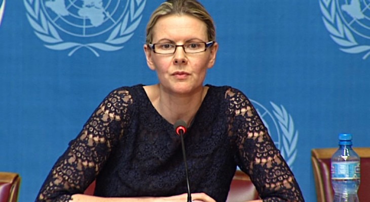 Spokesperson for the UN High Commissioner for Human Rights on Israel: Cécile Pouilly