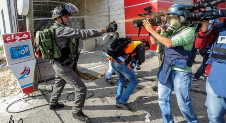 WAFA Reports: 23 Journalists Assaulted by Israeli Army in 2016