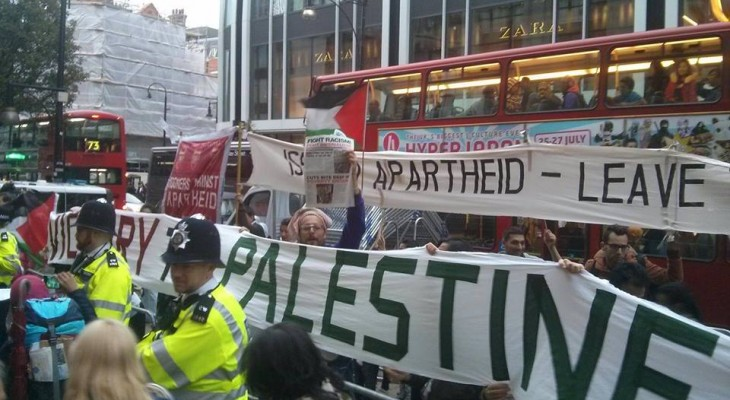LONDON EVENT: OXFORD ST Nakba Day - BDS rolling picket