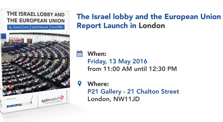 The Israel lobby and the European Union Report Launch in London