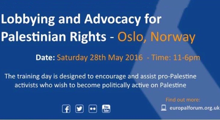 Lobbying and Advocacy for Palestinian Rights (Oslo, Norway)