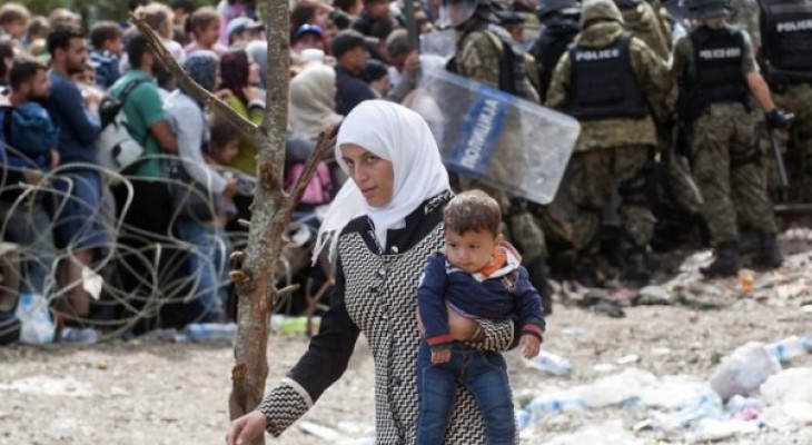 Palestinian refugees stuck on Greece borders