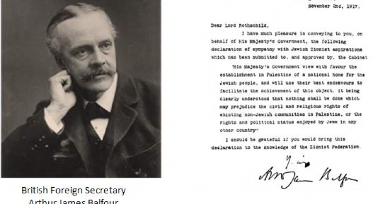 Balfour Declaration and the ongoing tragedy for Palestinians