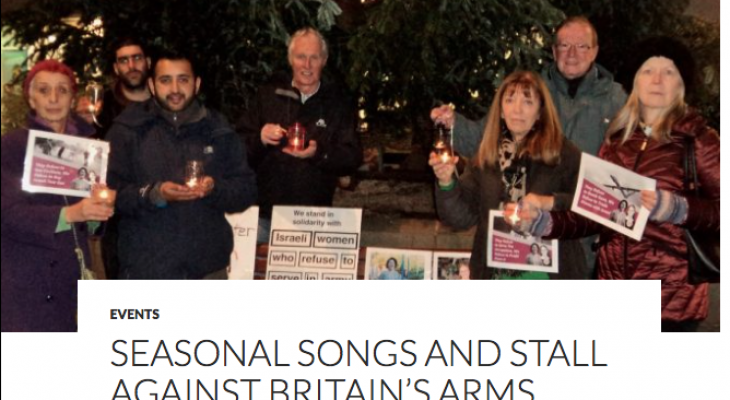 OLDHAM EVENT: Seasonal songs and stall against Britain's Arms Trade with Israel