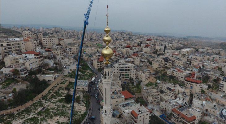 Palestinians construct tallest minaret in defiance of Israel's 'ban' on call to prayer
