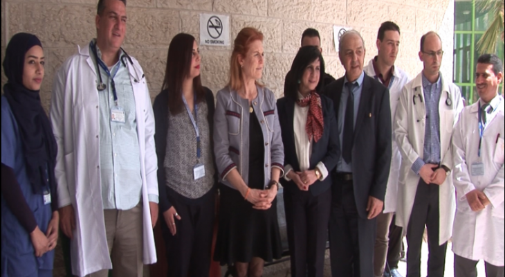 Video: Duchess of York stresses support to Palestinians during visit to Bethlehem