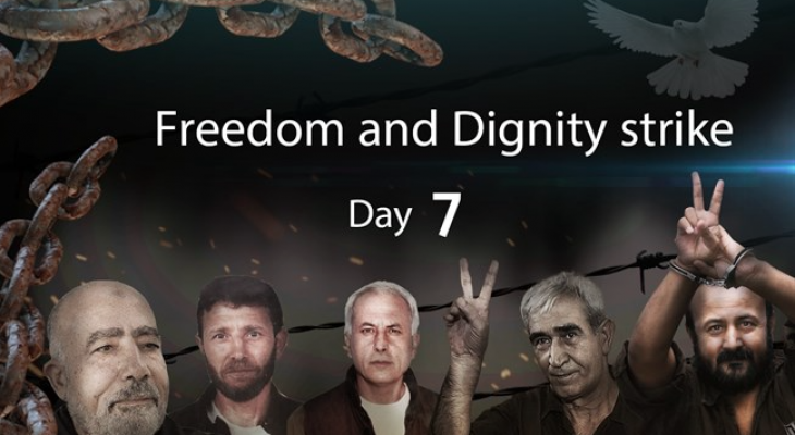 One week in, Palestinian prisoners continue to join mass hunger strike