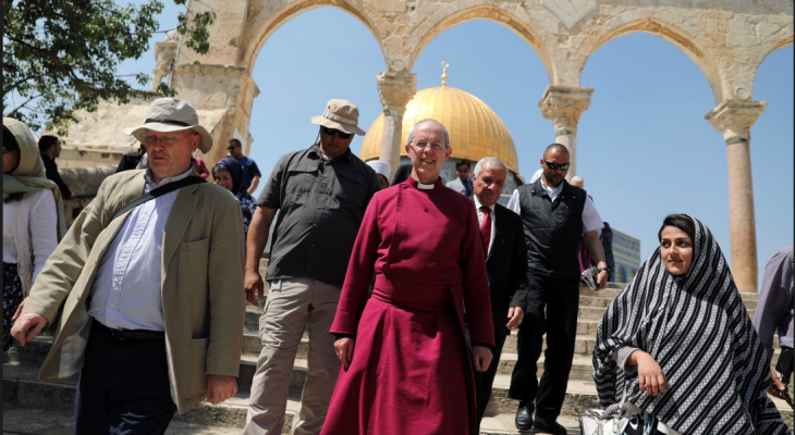 Archbishop of Canterbury expresses 'grief and sorrow' at plight of Palestinians