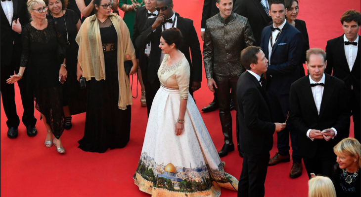 Israeli minister's Jerusalem dress proves controversial in Cannes By: Peter Beaumont